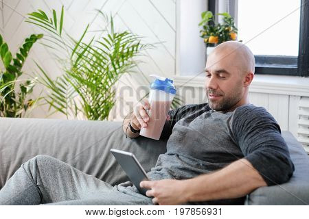 Lifestyle. Handsome man at home