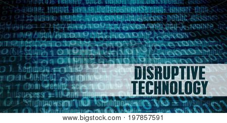 Disruptive Technology Revolution as a Presentation Background