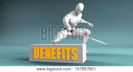Cutting Benefits and Cut or Reduce Concept 3D Illustration Render