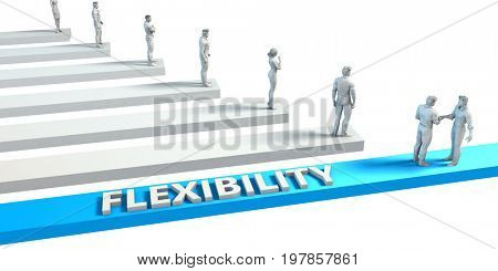 Flexibility as a Skill for A Good Employee 3D Illustration Render