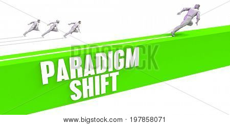 Paradigm Shift as a Fast Track To Success 3D Illustration Render