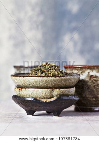 Sencha green Tea Leaves poster