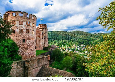 magnificient Schloss Heidelberg - great castles of Germany, popular touristic attraction