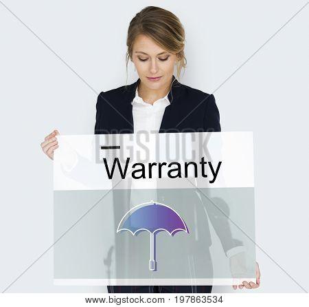 Warranty Security Safety Protection Guard Guarantee Umbrella Icons Symblos