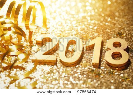 New year 2018 decoration,closeup