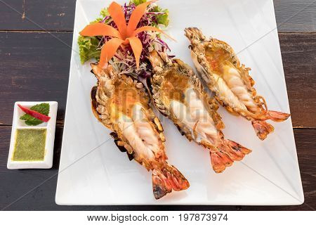 Grilled mighty tiger river prawn