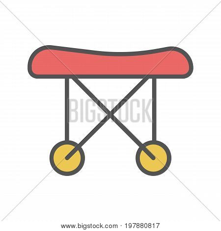 Medical stretchers color icon. Isolated vector illustration on white background