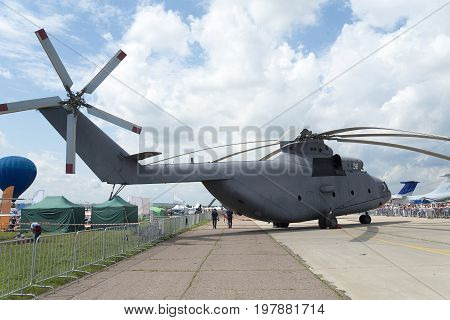 Russian Combat Helicopters At Maks.