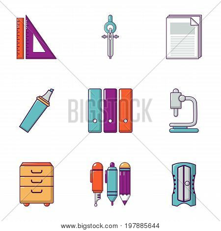 Technical drawing icons set. Flat set of 9 technical drawing vector icons for web isolated on white background