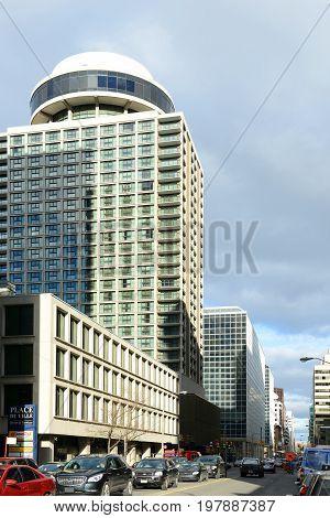 OTTAWA, CANADA - OCT. 30, 2014: Marriott in Ottawa downtown on Queen Street in Ottawa, Ontario, Canada.