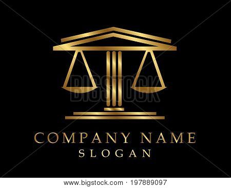Lawyer vector logotype on a black background