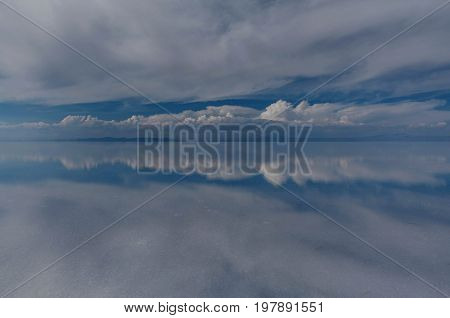 Salt Lake at Salar de Uyuni Bolivia