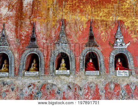 Buddhist Monastery In Shan State, Myanmar