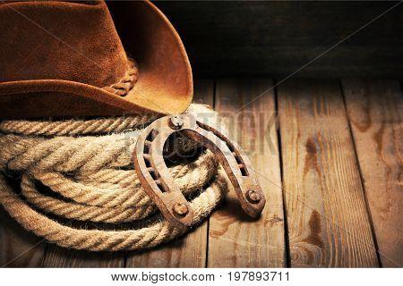 Hat shoe horse horseshoe table white background