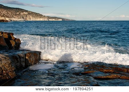 Gorgeous Seascape With White Waves