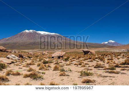 Rock formations at Salar de Uyuni Bolivia
