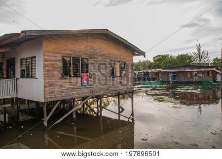 Homes On Stilts. Kota Kinabalu, Sabah, Malaysia.