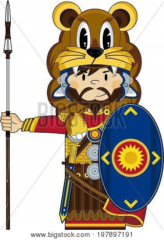 Roman Lion Soldier.eps