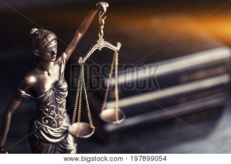 Symbol justice themis scales of justice criminal law white background