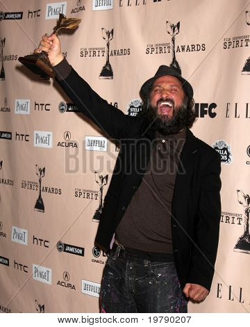 SANTA MONICA, CA - FEB 26:  Thierry Guetta in the Press Room of the 2011 Film Independent Spirit Awards at the Beach on February 26, 2011 in Santa Monica, CA
