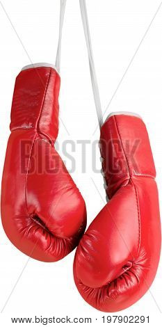 Red box gloves boxing sport competition competitive