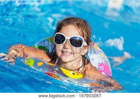Pool beautiful girl water elementary age human emotions cute girl