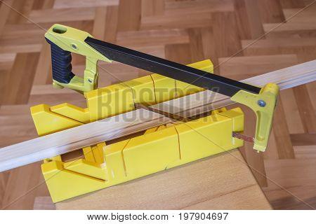 Using Hand Saw And Miter Box 2