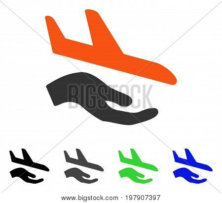 Aviation Support flat vector pictograph. Colored aviation support gray, black, blue, green pictogram versions. Flat icon style for web design.