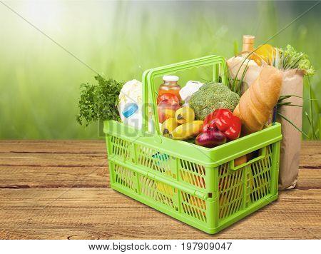 Shopping shop basket food diet baking plastic