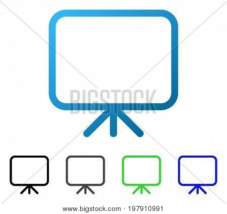 Presentation Screen flat vector pictogram. Colored presentation screen gradient, gray, black, blue, green icon versions. Flat icon style for web design.