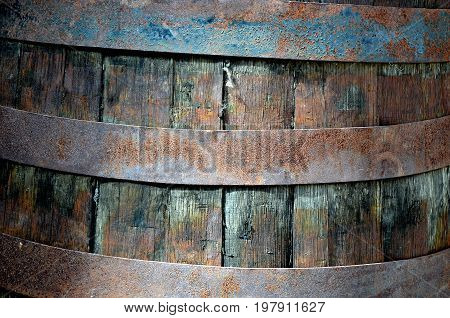 very old Rusted barrel close up photo