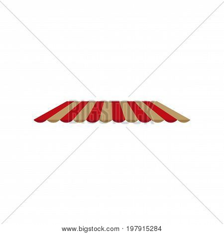 Icon in flat design Roof awning design furniture