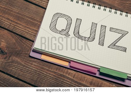 Notebook quiz growth grow life school communication