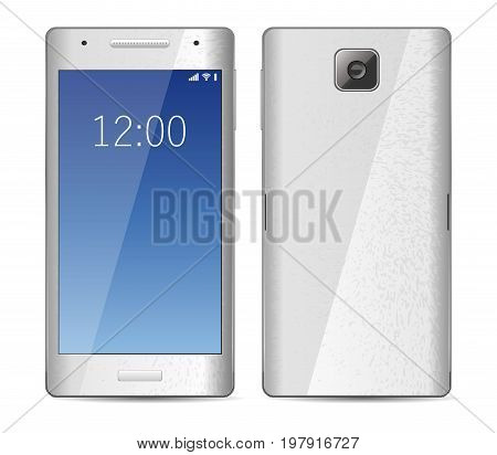 Smartphone mobile phone isolated on white _