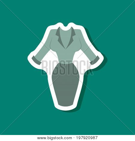 paper sticker fashion clothes Office dress fashion vector