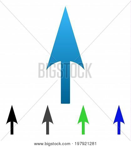 Sharp Up Arrow flat vector icon. Colored sharp up arrow gradiented, gray, black, blue, green icon variants. Flat icon style for web design.