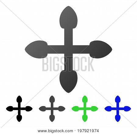 Expand Arrows flat vector illustration. Colored expand arrows gradient, gray, black, blue, green icon versions. Flat icon style for web design.