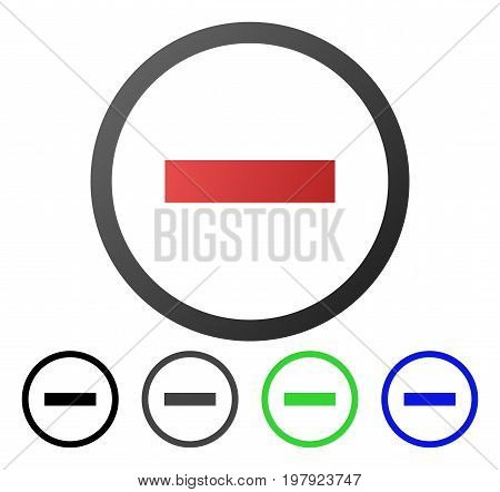 Delete flat vector pictograph. Colored delete gradiented, gray, black, blue, green pictogram versions. Flat icon style for graphic design.