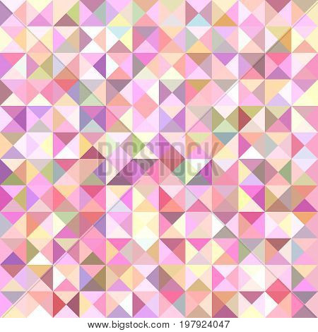 Geometrical abstract triangle tiled pattern background - vector graphic from triangles in pink colorful tones