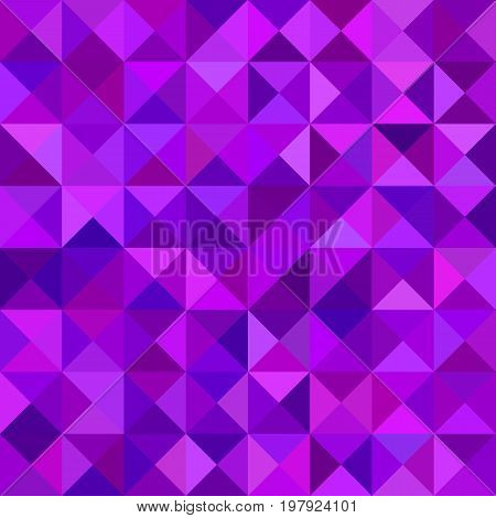 Geometrical abstract triangle mosaic pattern background - vector graphic from triangles in purple tones