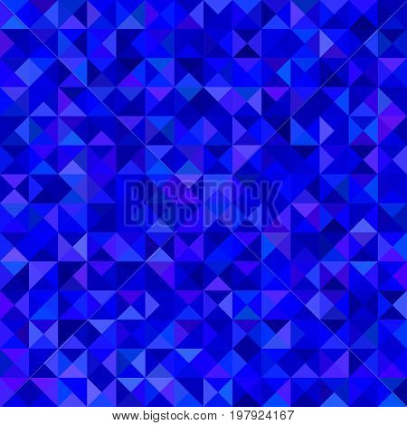Abstract triangle tiled mosaic background - vector graphic from triangles in blue tones
