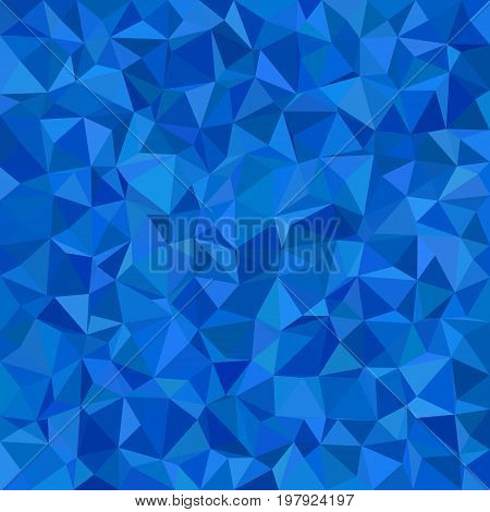 Blue irregular triangle tile mosaic background - polygon vector illustration from triangles