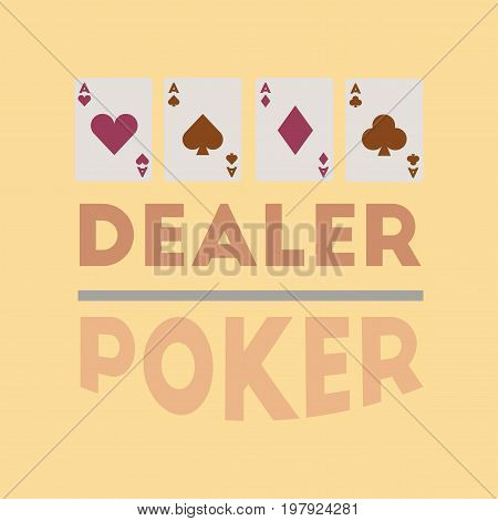 flat icon on stylish background poker casino dealer