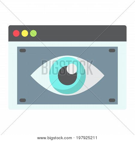 Web Visibility flat icon, seo and development, browser sign vector graphics, a colorful solid pattern on a white background, eps 10.