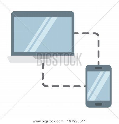 Responsive web design flat icon, seo and development, sync devices sign vector graphics, a colorful solid pattern on a white background, eps 10.