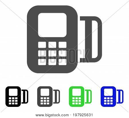 Card Terminal flat vector pictogram. Colored card terminal, gray, black, blue, green icon variants. Flat icon style for web design.