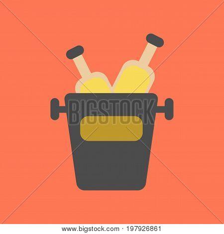 flat icon on stylish background bottle bucket