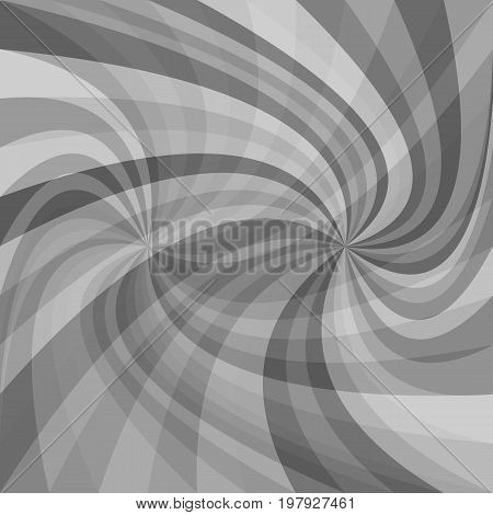 Abstract double spiral background - vector illustration from spun rays in grey tones