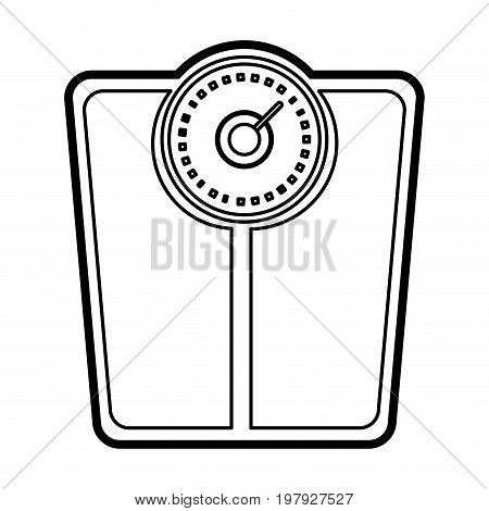 weight scale icon image vector illustration design black line