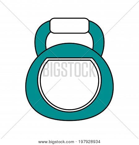 kettlebell exercise equipment icon image vector illustration design one color